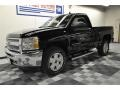 2012 Black Chevrolet Silverado 1500 LT Regular Cab 4x4  photo #26