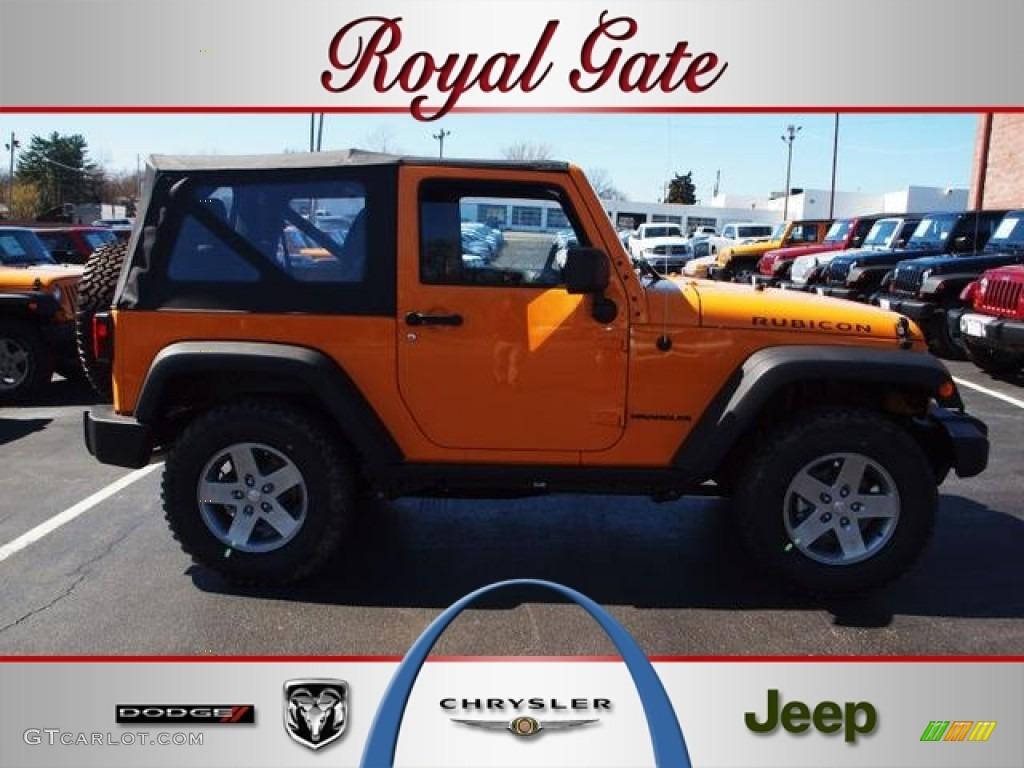 2012 Dozer Yellow Jeep Wrangler Rubicon 4X4 #62159361 ...