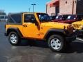 2012 Dozer Yellow Jeep Wrangler Sport S 4x4  photo #2