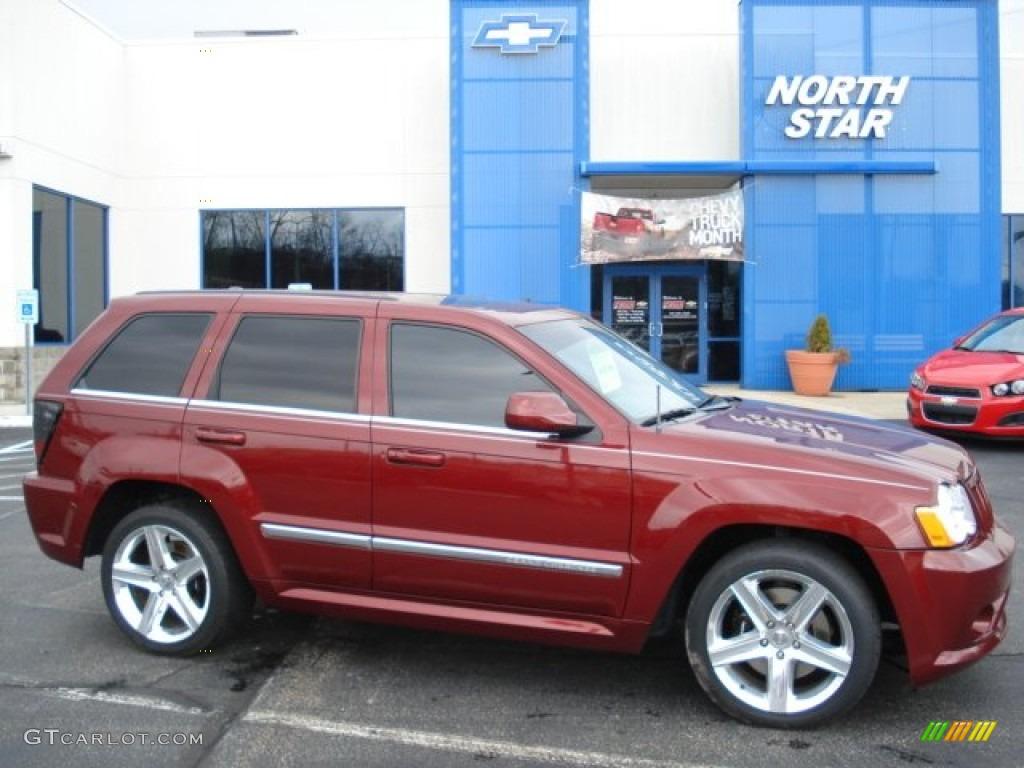 2008 red rock crystal pearl jeep grand cherokee srt8 4x4 #62159115