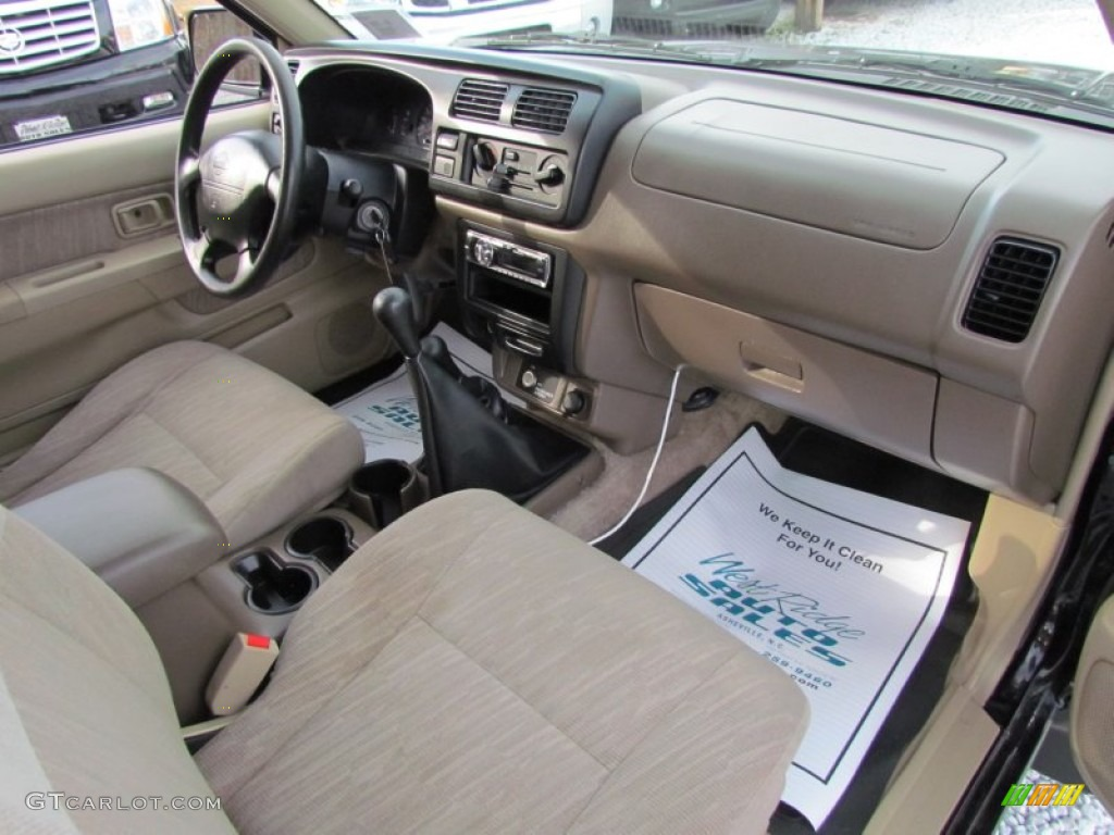 Beige Interior 1999 Nissan Frontier Se Extended Cab 4x4