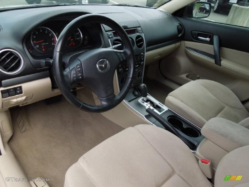 Beige Interior 2008 Mazda Mazda6 I Sport Sedan Photo