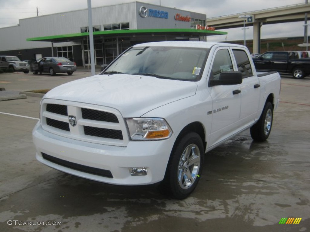 2012 bright white dodge ram 1500 express crew cab 62194399 car color galleries. Black Bedroom Furniture Sets. Home Design Ideas
