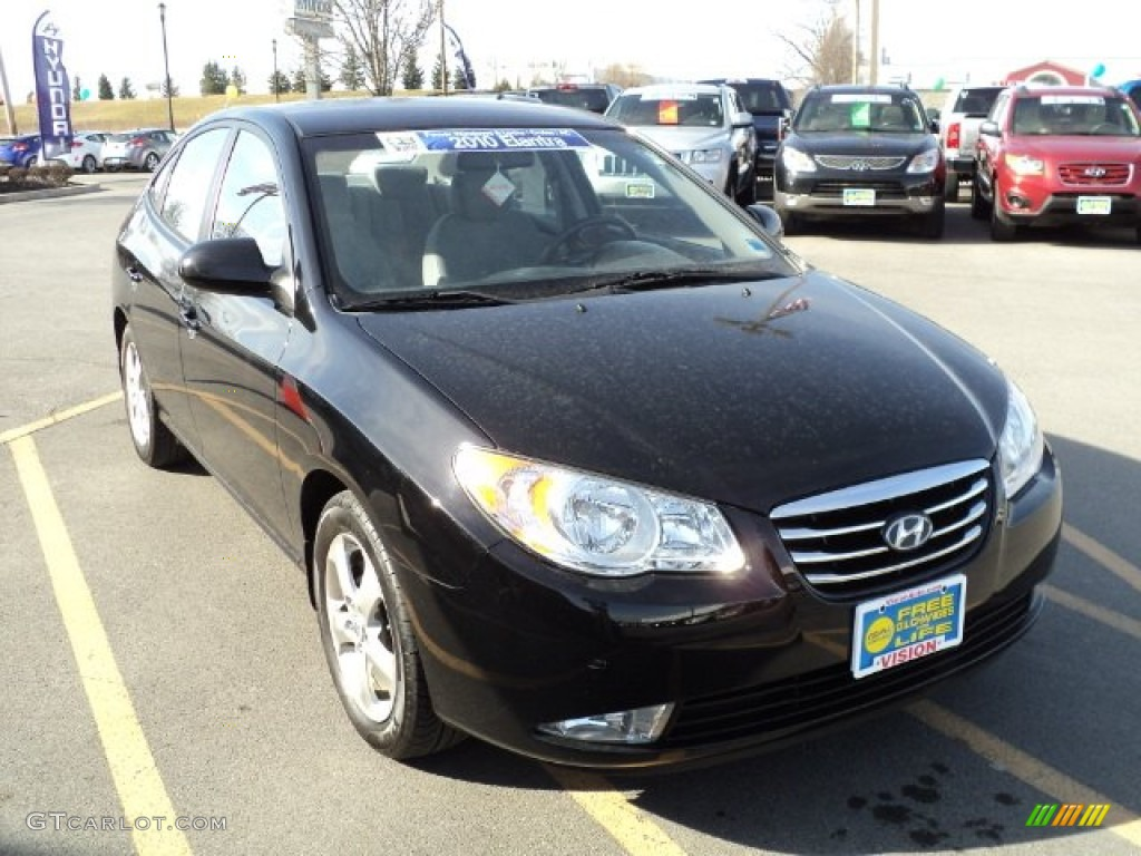 2010 Elantra SE - Black Pearl / Gray photo #9