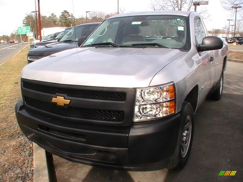 2012 Silverado 1500 Work Truck Regular Cab - Silver Ice Metallic / Dark Titanium photo #1