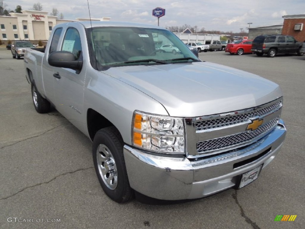 2012 Silverado 1500 LS Extended Cab - Silver Ice Metallic / Dark Titanium photo #1