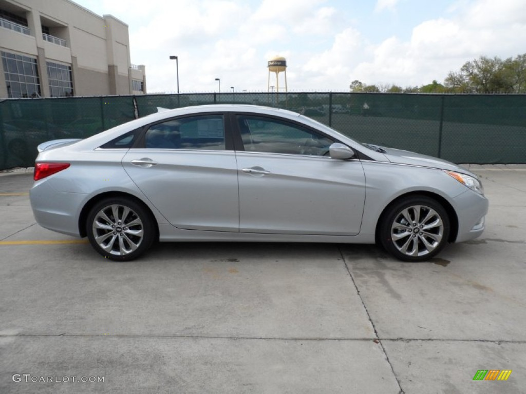 radiant silver 2012 hyundai sonata se 2 0t exterior photo. Black Bedroom Furniture Sets. Home Design Ideas