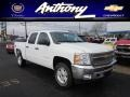 2012 White Diamond Tricoat Chevrolet Silverado 1500 LT Crew Cab 4x4  photo #1