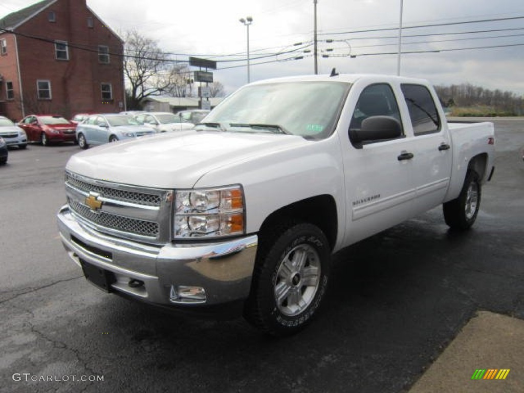 2012 Silverado 1500 LT Crew Cab 4x4 - White Diamond Tricoat / Ebony photo #3