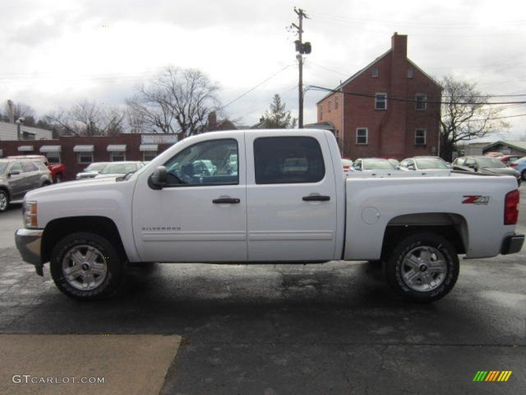 2012 Silverado 1500 LT Crew Cab 4x4 - White Diamond Tricoat / Ebony photo #4