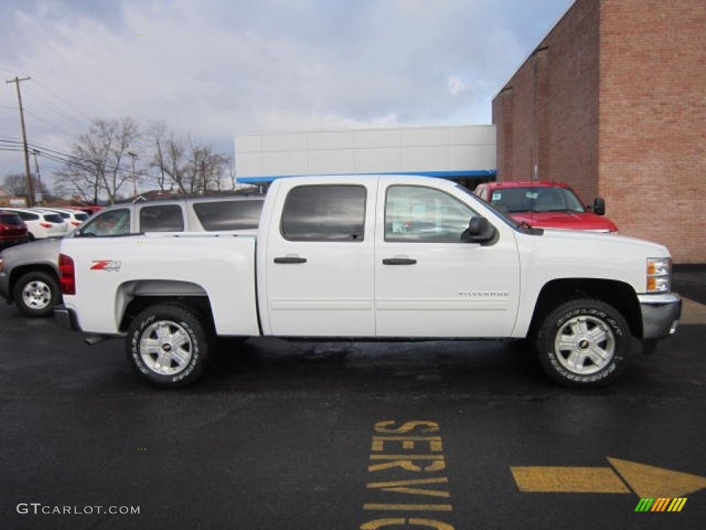 2012 Silverado 1500 LT Crew Cab 4x4 - White Diamond Tricoat / Ebony photo #8