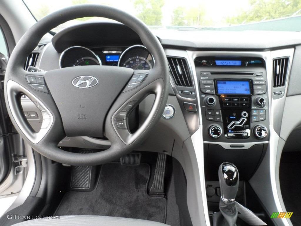 2012 Hyundai Sonata Hybrid Gray Dashboard Photo 62256913