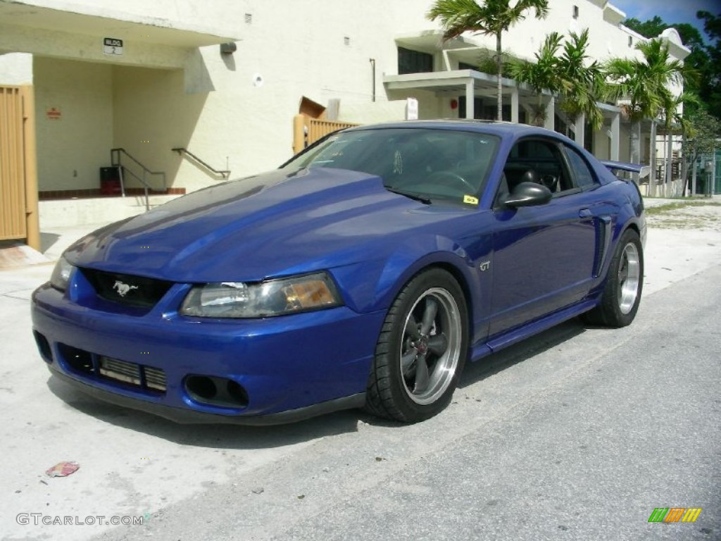2003 Mustang GT Coupe - Sonic Blue Metallic / Dark Charcoal photo #1