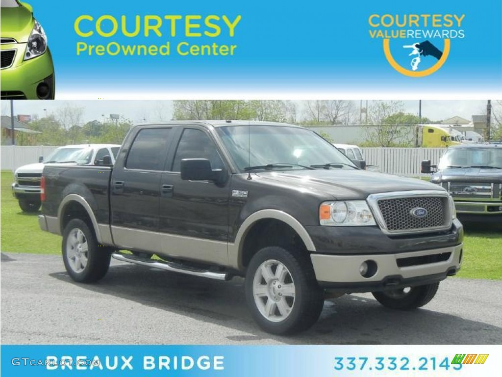 2007 Dark Stone Metallic Ford F150 Lariat Supercrew 4x4