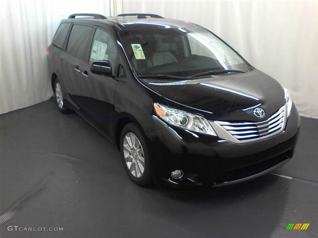 2012 Black Toyota Sienna Limited 62243755 Car Color Galleries