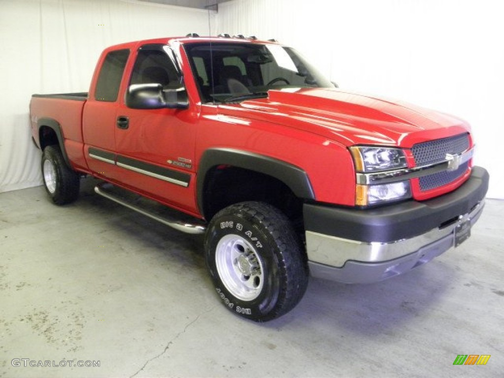 2004 victory red chevrolet silverado 2500hd ls extended. Black Bedroom Furniture Sets. Home Design Ideas