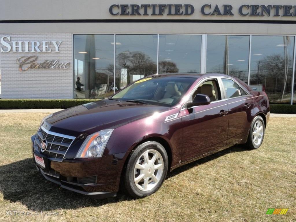 2009 Black Cherry Cadillac Cts 4 Awd Sedan 62243408 Gtcarlot Com