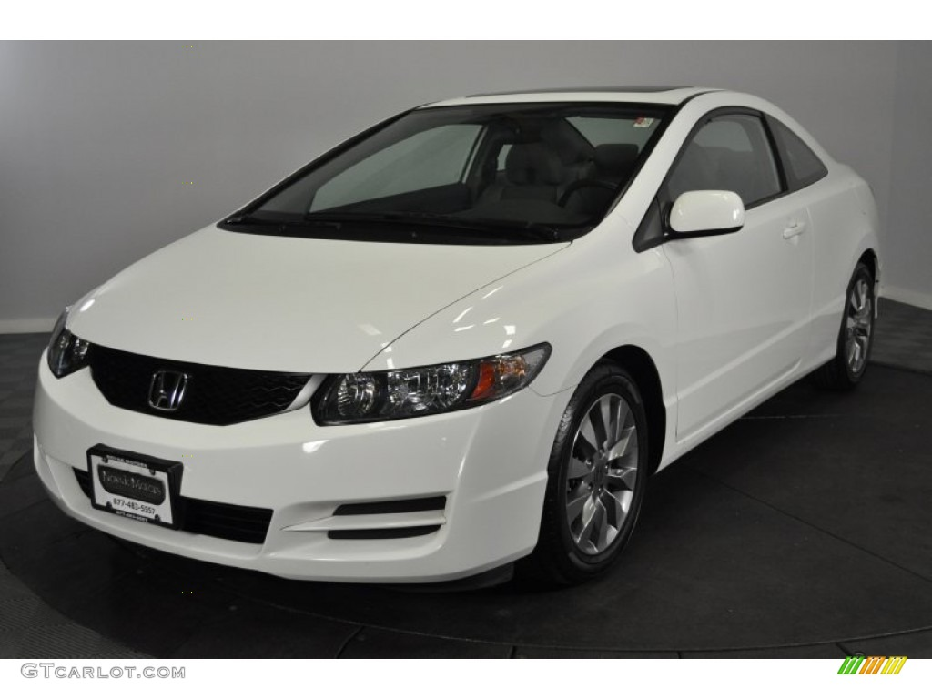 taffeta white 2009 honda civic ex l coupe exterior photo 62275721. Black Bedroom Furniture Sets. Home Design Ideas