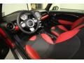 Black/Rooster Red Interior Photo for 2009 Mini Cooper #62279176