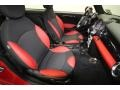 Black/Rooster Red Interior Photo for 2009 Mini Cooper #62279353