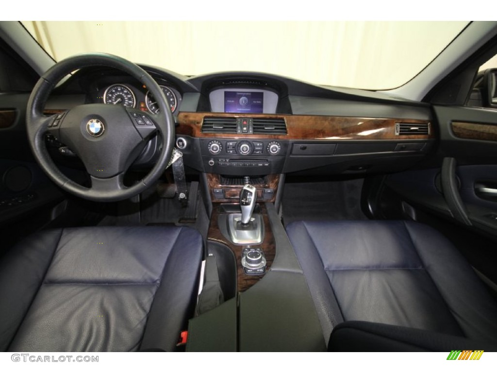 Dark Blue Interior 2009 BMW 5 Series 535i Sedan Photo 62287892
