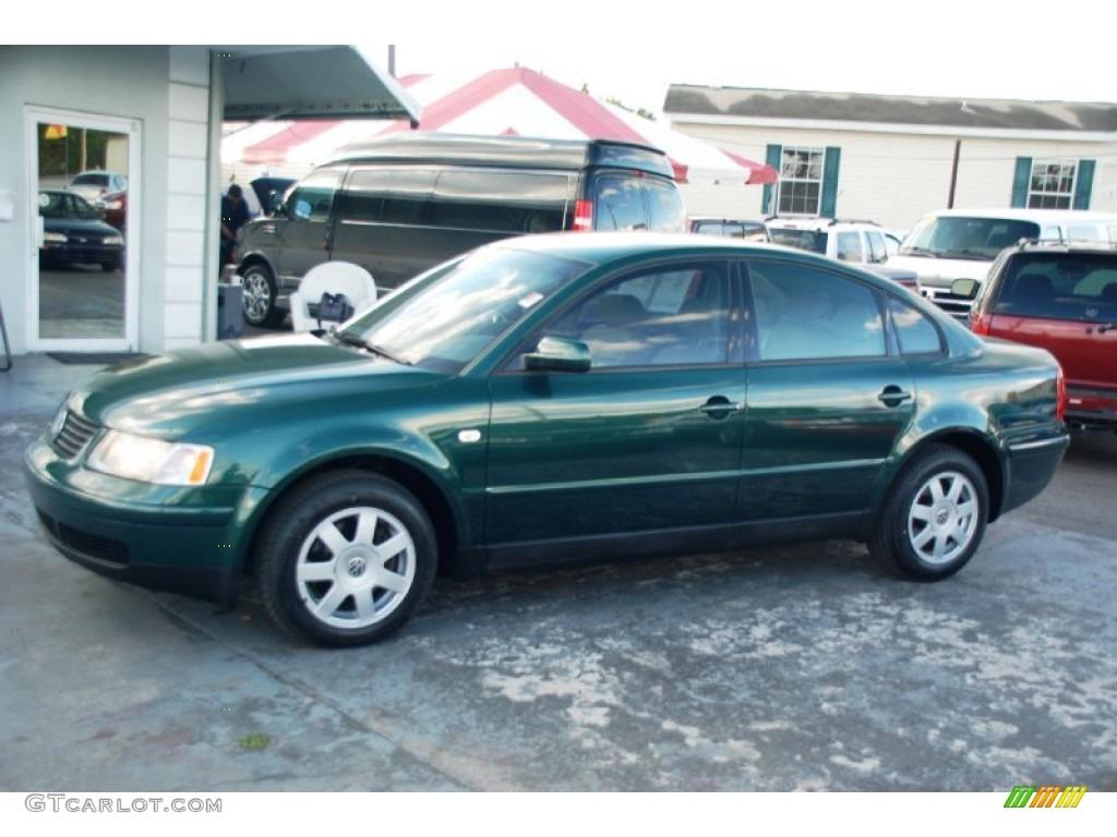 2000 bright green metallic volkswagen passat gls 1 8t sedan 62243641 car color. Black Bedroom Furniture Sets. Home Design Ideas