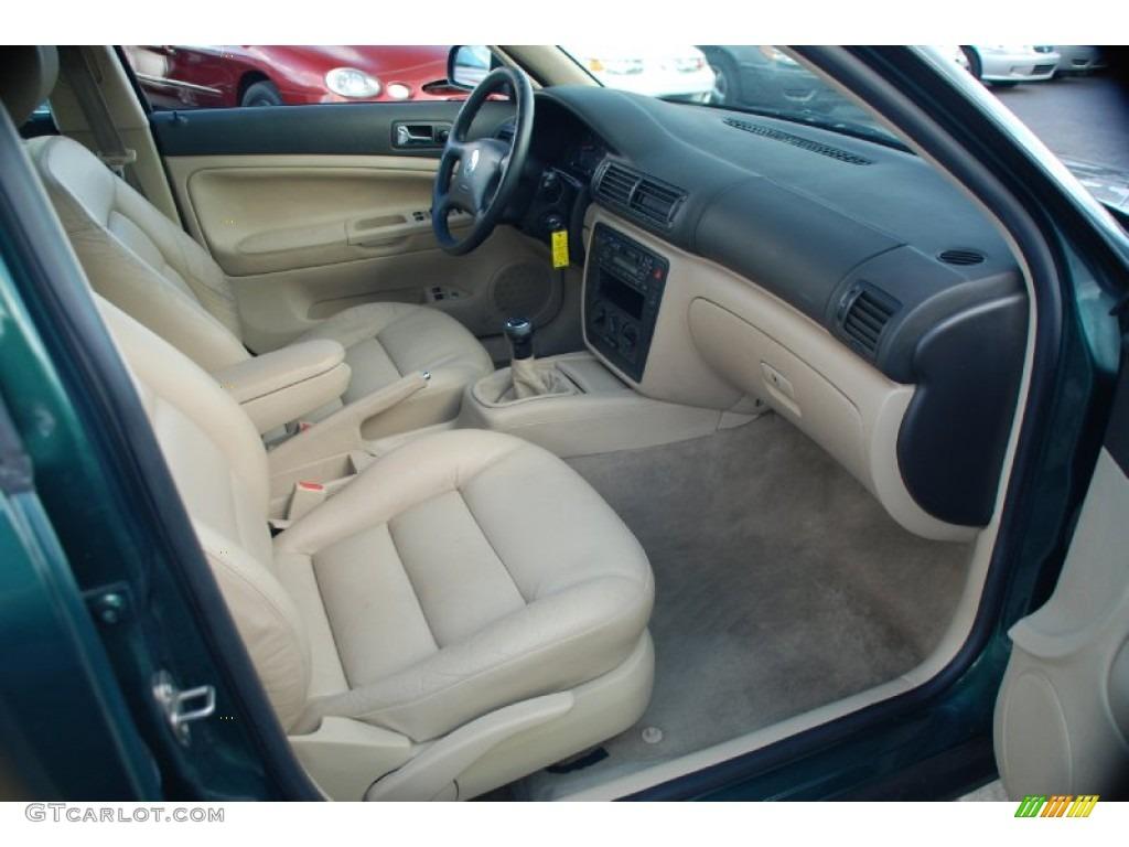 2000 bright green metallic volkswagen passat gls 1 8t sedan 62243641 photo 19 for Volkswagen passat 2000 interior