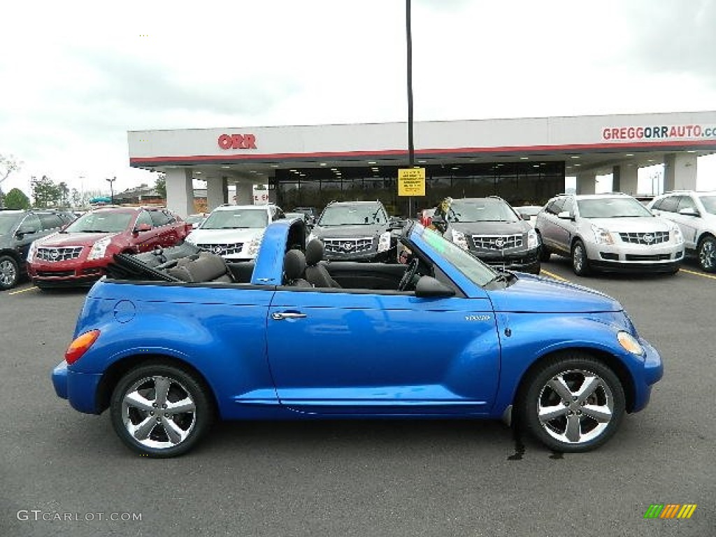 2005 electric blue pearl chrysler pt cruiser touring turbo convertible 62243607 photo 2. Black Bedroom Furniture Sets. Home Design Ideas
