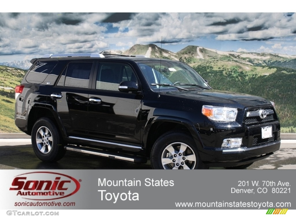 2012 black toyota 4runner sr5 4x4 62243261 car color galleries. Black Bedroom Furniture Sets. Home Design Ideas