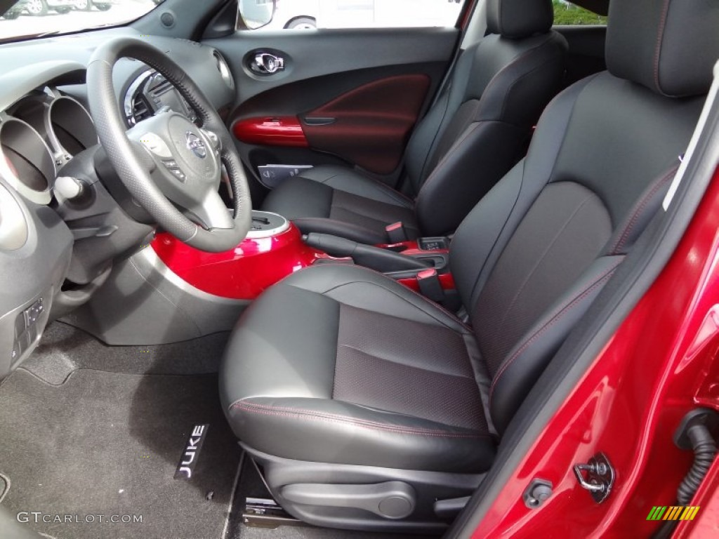black red leather red trim interior 2012 nissan juke sl photo 62309588