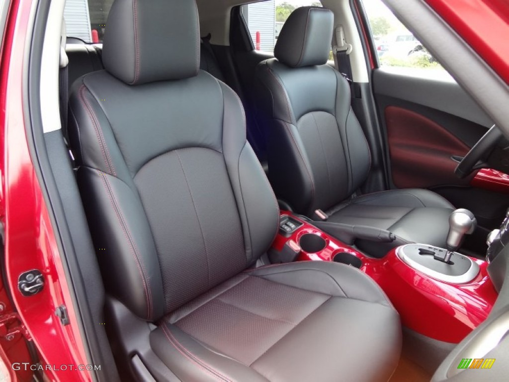 Black Red Leather Red Trim Interior 2012 Nissan Juke Sl