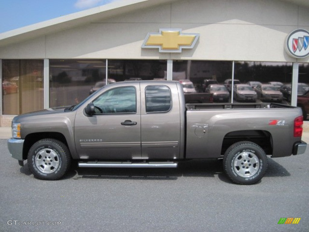 2012 Silverado 1500 LT Extended Cab 4x4 - Mocha Steel Metallic / Light Cashmere/Dark Cashmere photo #1