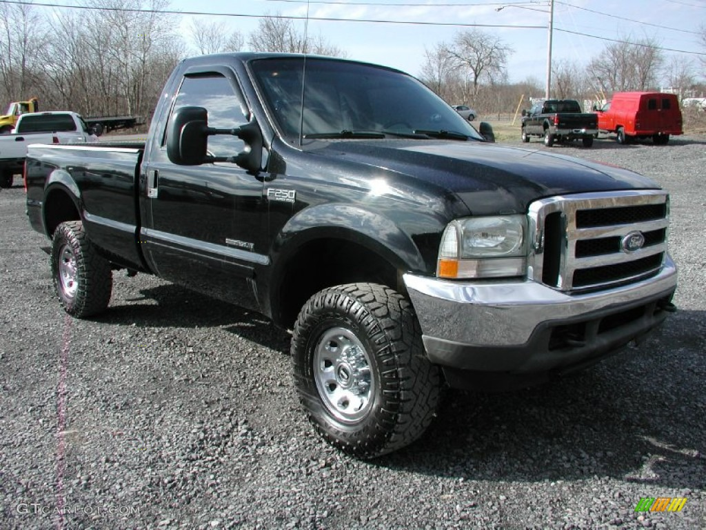 Black 2002 Ford F250 Super Duty Xlt Regular Cab 4x4 Exterior Photo 62338034 Gtcarlot Com