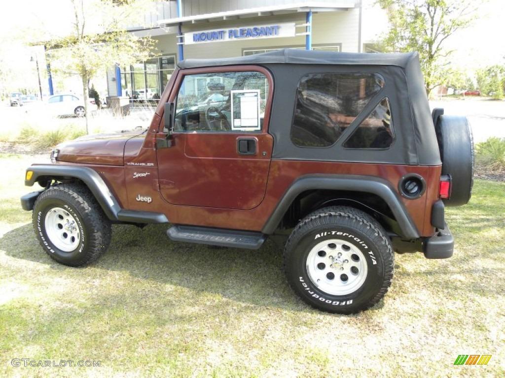 2002 sienna red pearl jeep wrangler sport 4x4 62312375. Black Bedroom Furniture Sets. Home Design Ideas