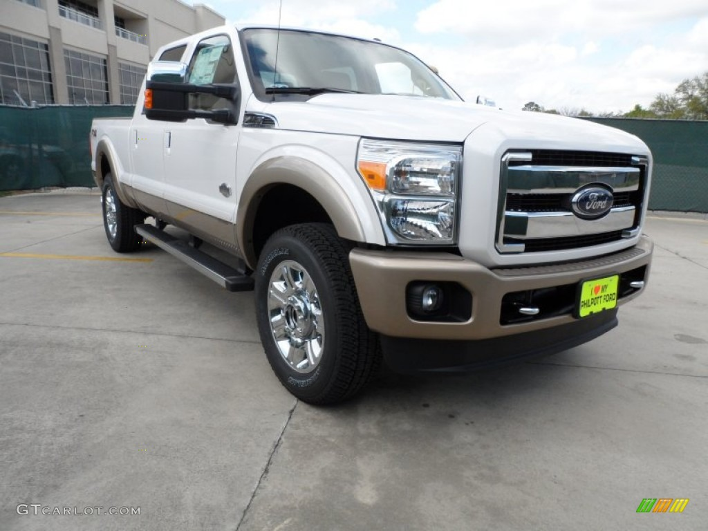2012 white platinum metallic tri coat ford f250 super duty king ranch crew cab 4x4 62312249. Black Bedroom Furniture Sets. Home Design Ideas