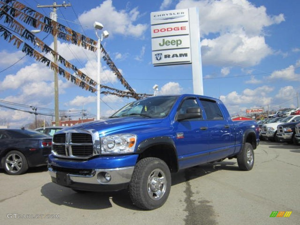 2007 Electric Blue Pearl Dodge Ram 2500 Slt Mega Cab 4x4 62312223 Gtcarlot Com Car Color Galleries