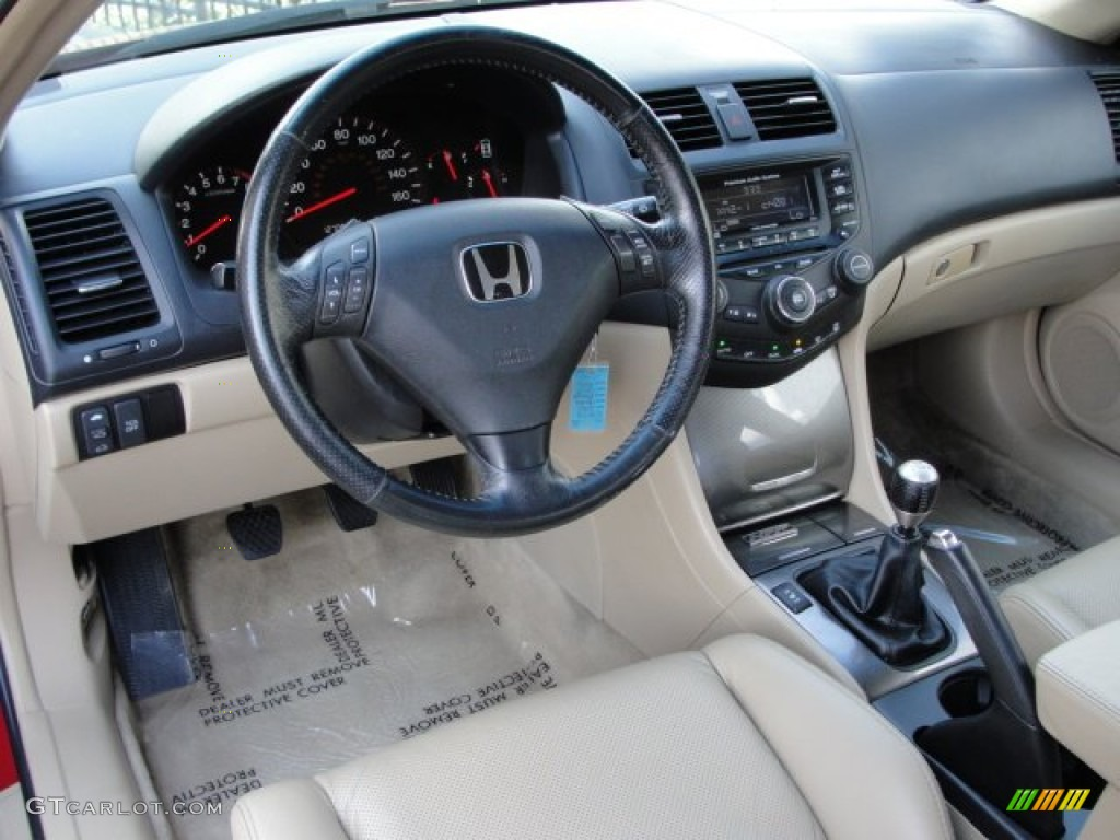 ivory interior 2005 honda accord ex v6 coupe photo. Black Bedroom Furniture Sets. Home Design Ideas