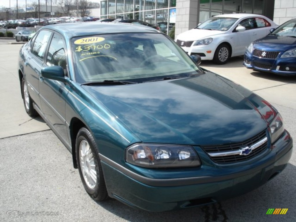 Dark Jade Green Metallic 2001 Chevrolet Impala Standard Impala Model Exterior Photo #62374977 ...