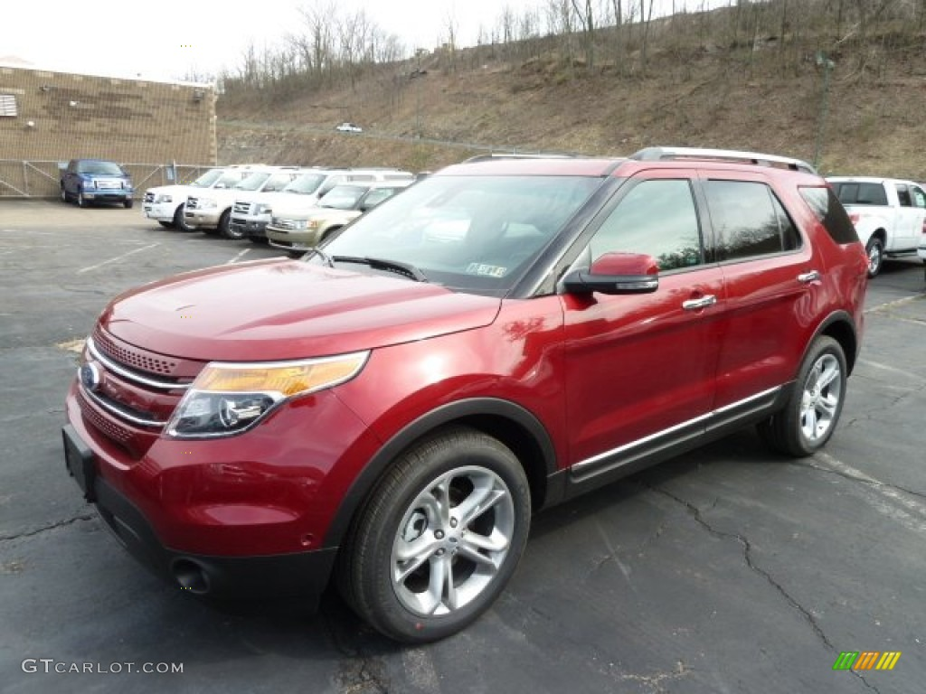 Ruby red metallic 2013 ford explorer limited 4wd exterior - Ford explorer exterior dimensions ...