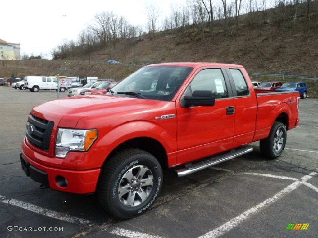 race red 2012 ford f150 stx supercab 4x4 exterior photo 62380794. Black Bedroom Furniture Sets. Home Design Ideas