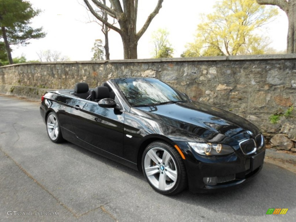 Jet Black 2009 Bmw 3 Series 335i Convertible Exterior Photo 62388226