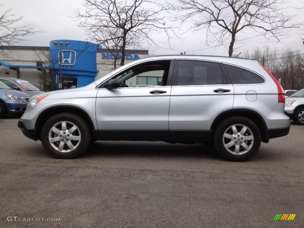 2009 CR-V EX 4WD - Alabaster Silver Metallic / Black photo #1