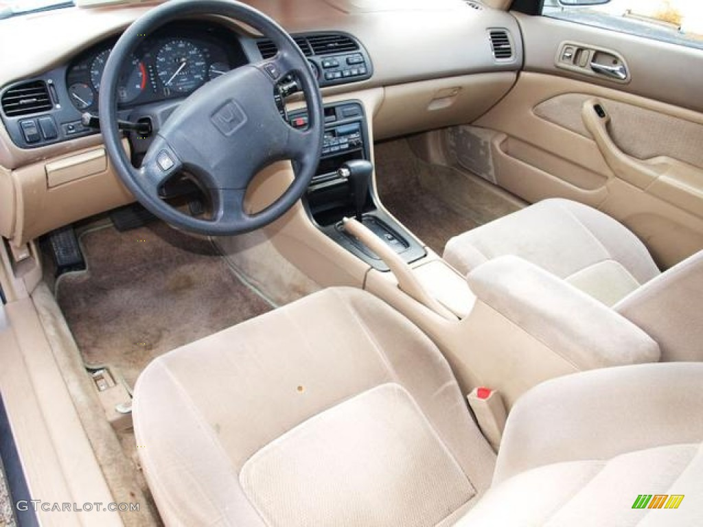Beige Interior 1996 Honda Accord LX Coupe Photo #62400228