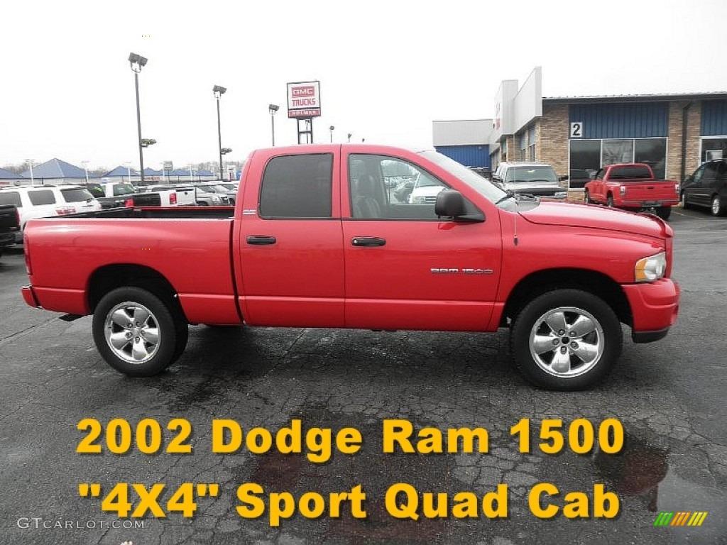 2002 Ram 1500 Sport Quad Cab 4x4 - Flame Red / Dark Slate Gray photo #1