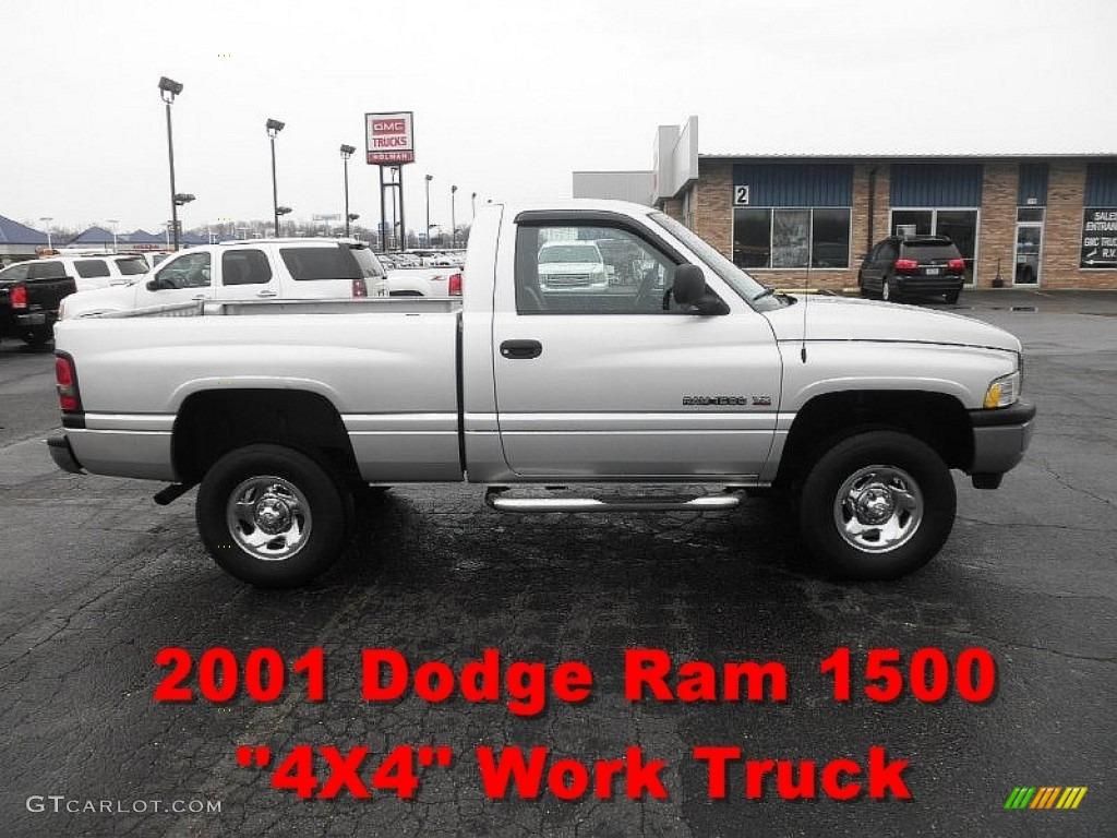 2001 bright silver metallic dodge ram 1500 regular cab 4x4 62377904 car color. Black Bedroom Furniture Sets. Home Design Ideas