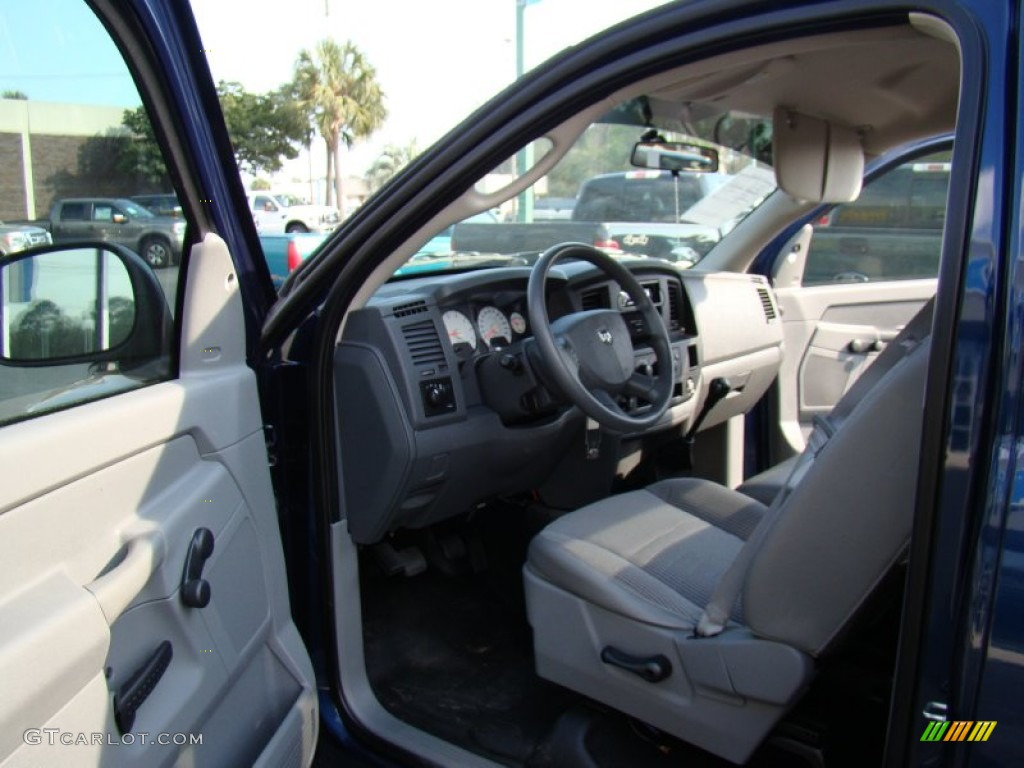 2008 Ram 1500 ST Regular Cab - Patriot Blue Pearl / Medium Slate Gray photo #10