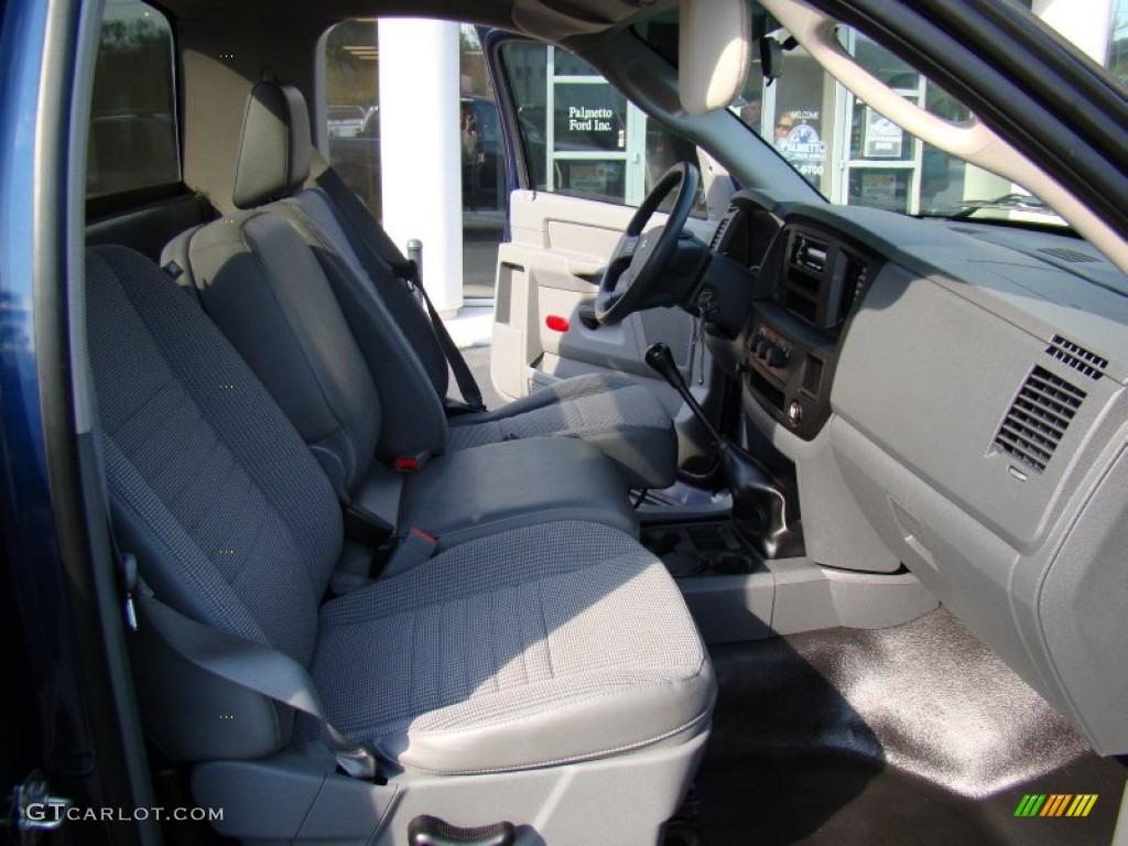 2008 Ram 1500 ST Regular Cab - Patriot Blue Pearl / Medium Slate Gray photo #13