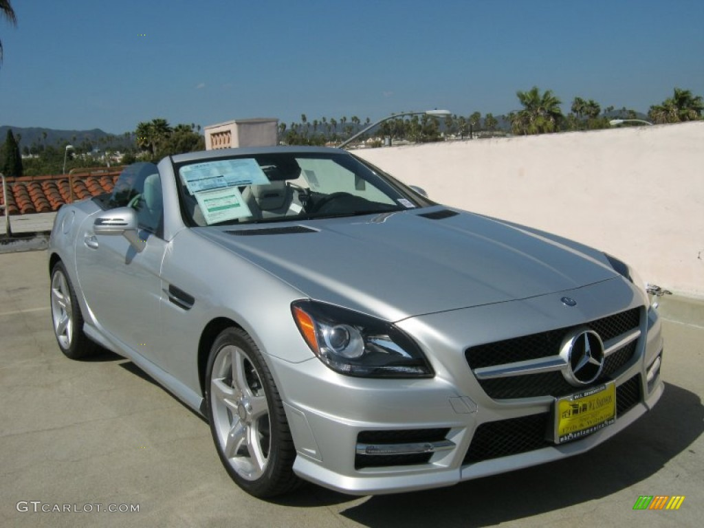 2012 iridium silver metallic mercedes benz slk 250 roadster 62377439 car color. Black Bedroom Furniture Sets. Home Design Ideas