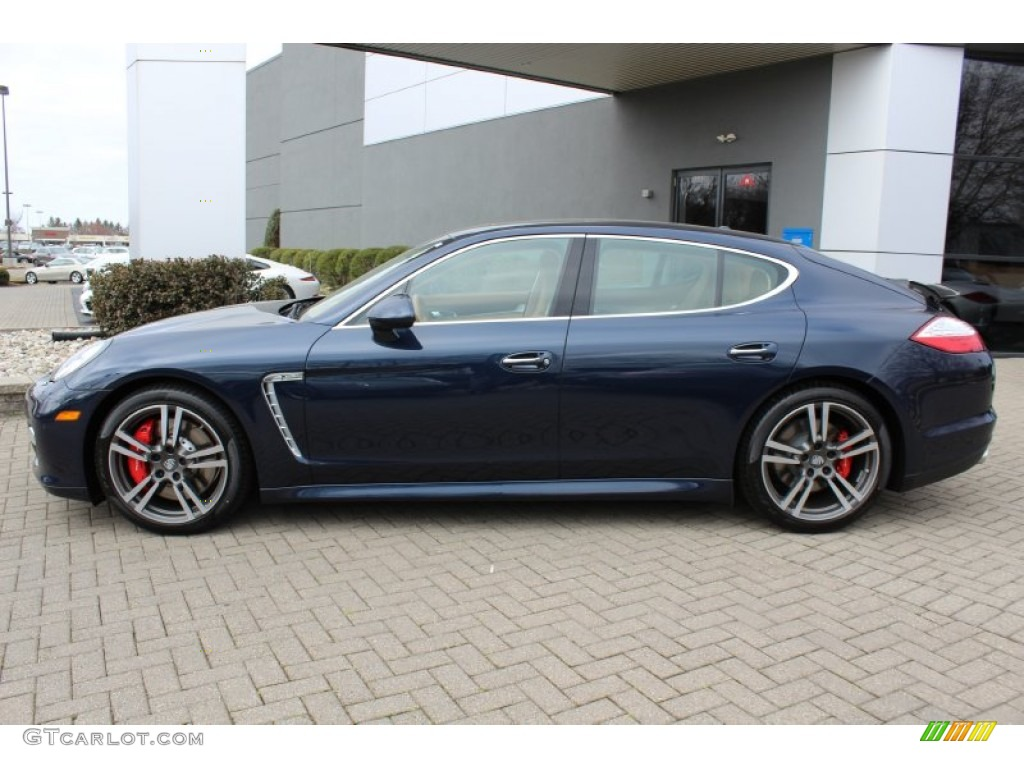 Dark Blue Metallic 2012 Porsche Panamera Turbo Exterior Photo 62431245