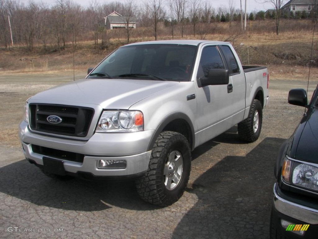 2005 f150 fx4 supercab 4x4 silver metallic black photo 1